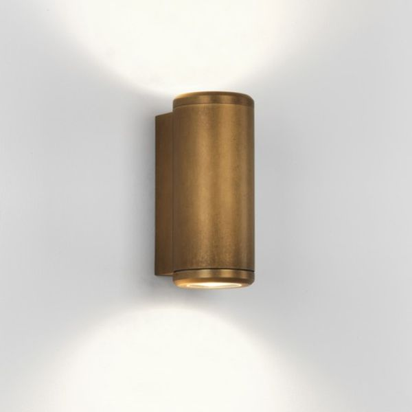 Astro Lighting 7809 Jura Twin Antique Brass Finish Up Down Wall